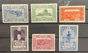 Turkey Ottoman 1917 Mount Sinai Tur-u Sina MNH* COMPLETE SET Isfila #874/879