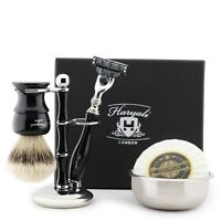 Best Men's Shaving and Grooming Luxury Gift Kit For Hair Removal BLACK EDITION