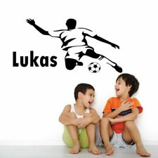 Football Player Custom Name Vinyl Wall Sticker Removable Boys Kids Bedroom Sport