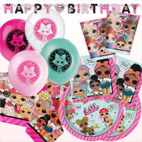 Lol Surprise Party Pack Kit Girls Birthday Party Decoration Tableware Supplies