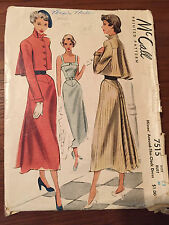 Vintage McCall #7515 Misses' Around the Clock Dress Size 12 Bust 30 - 1948