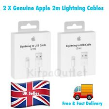 2 X Original Apple 2M iPhone X/8/8+/7/6S/6/5S/5 Lightning USB Data Charger Cable