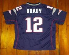 NEW Womens Tom Brady Patriots Retro Jersey L SEWN!! Reebok Bruschi Moss Harrison