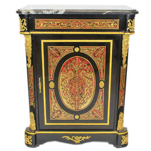 BOULLE - FRANCE LOUIS XIV BOULLE STYLE CABINET #MB750