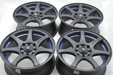 15 matt black wheels rims Vigor Integra Civic Accord Miata Del Sol 4x100 4x114.3