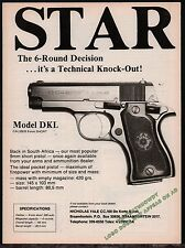 1988 STAR Model DKI 9mm Shot Pistol PRINT AD South Africa ADVERTISING PAGE