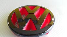 VW Golf MK5 125mm tunning Gloss Black Red Front Grill Badge Emblem GTI TDI DEVIL