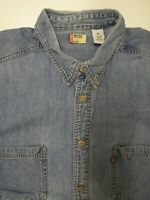 LEVI'S DENIM SHIRT MEN'S REGULAR FIT JEAN BUTTONS XL LIGHT BLUE LSHT707