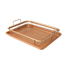 Copper Crisping Basket & Baking Tray Non-Stick Oven Cooking Trays M&W