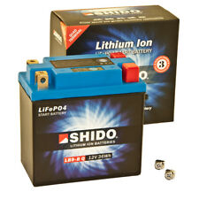 Battery Shido Lithium 12V 8Ah YB9-B Scooter Positive Pole for Left & Right
