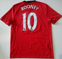 MANCHESTER UNITED 2009/2010 HOME FOOTBALL SHIRT JERSEY NIKE ROONEY #10 SIZE S