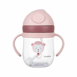 Portable Cartoon Drinking Bottle Straw Drinkware Water Cup Baby Feeding Cup