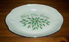 Lenox Holiday Dimension Collection Ivory Bless This Home/Bread Tray NWT