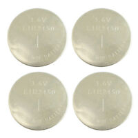 New! Lot 4 LIR2450 3.6V Rechargeable LI-ION Coin Cell Button CMOS Battery CR2450