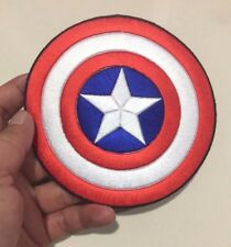 LARGE SIZE Shield Captain America symbol Avenger Embroidered-Iron-On-Sew-On-Patc