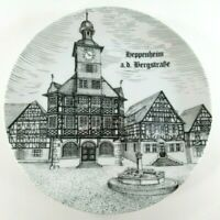 Heppenheim West Germany Plate Handmade TK Burgwindheim Vintage Original Sticker