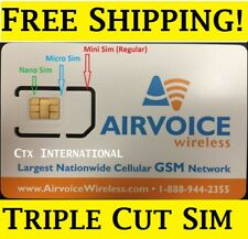 Airvoice Wireless Sim Card Brand New, Without Contract. Works with At&T Phones