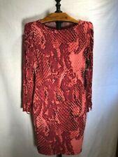 Women's Project Runway Long Sleeve Stretch Dress Size Medium Burgundy NEW
