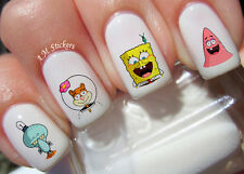Spongebob Nail Art Stickers Transfers Decals Set of 50