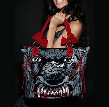 IRON FIST Wolfbeater Tote Bag Handbag Wolf Werewolf Black RARE NWT Ladies Womens