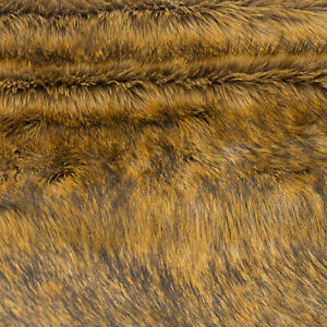 PAWSTAR Realistic Pepper Fox Fur Yardage - natural brown rust beige  [PFF]9530