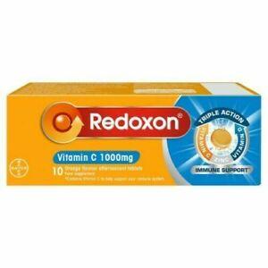 Redoxon Vitamin C 1000mg - 10 Orange Flavour Effervescent Tablets 2 x10 Tablets