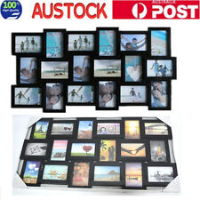 18 in 1Multi Family Picture Wooden Photo Frame Wall Hanging Decoraction Black
