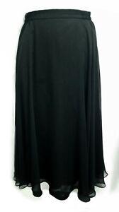 MRK Black Chiffon Flared Skirt Size 12