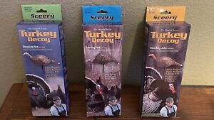 Ed Sceery Turkey Inflatable Decoys Flock (2 Hens And Jake)- New FREE SHIPPING