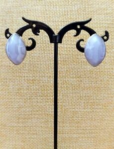 Jay King Blue Lace Agate Marquise Shaped Sterling Silver Post Earrings NWT