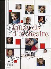 AUTOGRAPHES du cast de Fauteuils d'Orchestre