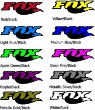 Fox Racing Shox MTB Mountain Bike Vinyl Decals Stickers (made in 2 colours)