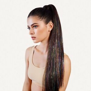 Insert Name Here Kacey Pony Tail Hair Extension Dark Brown INH Glitter Ariana