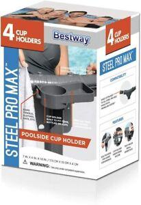 Bestway Swimming Pool FrameLink Poolside Drink Beverage Cup Towel Holder Tray