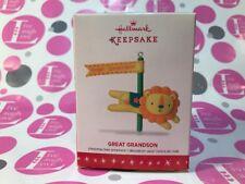 "Hallmark Keepsake Ornament 2016 ""Great Grandson"" New in Box Msrp 12.95"