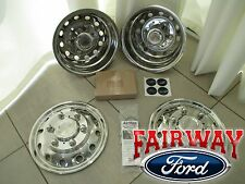 "15 thru 18 Ford Transit OEM 16"" 6-Lug Stainless Rim Wheel Liners Simulators DRW"
