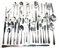 Vintage Silverware Lot- 40 Pieces- Mixed Misc. Assorted Variety- Flatware Lot.