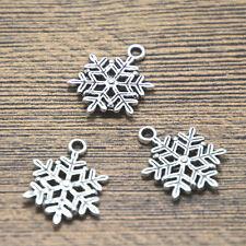 20pcs snowflake charms silver tone snowflake charm pendants 17x22mm