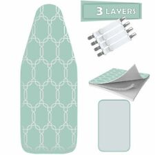"TriFusion Wider Silicone Ironing Board Cover and Pad 18"" X 49"" and Accessories"