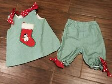 Bailey Boys 24 months Girls Christmas Stocking Outfit SET Bloomers Holiday
