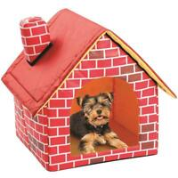 Portable Brick Dog House Pets Dog Cat Bed House Small Animals Kennel Detachable.
