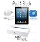 NEW Apple iPad 4th Generation 16GB, Wi-Fi + Cellular (AT&T), 9.7in - Black
