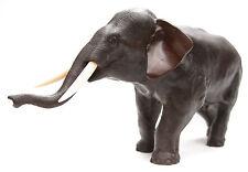 Large Antique Japanese Meiji Signed Bronze Elephant Okimono Statue Japan Old