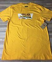 Levi's Brand California Bear Flag Logo T-Shirt Men's Size LARGE Yellow NWT