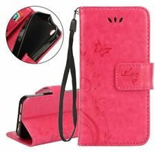 Apple IPhone 4 / 4s Butterfly embossed leather wallet case / UK shop Free P&P