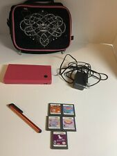 Nintendo DS Lite, 5 Games, Stylus, AC Adapter & Case