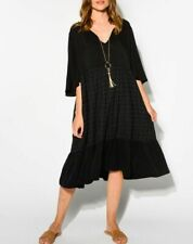 PQ The Label black eloquence Tunic Dress NWOT S/M size 12-14