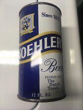 Koehler Beer 12 oz. Flat Top Beer Can-Erie, Pa. Excellent