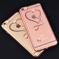 Cristallo Bling Glitter love morbido TRASPARENTE Custodia cover per iPhone 6 7 8