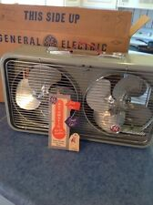 Vintage MIDCENTURY GE Dual 3 Speed Fan  Window Thermostat Ge Excellent Condition
